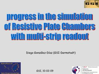 progress in the simulation  of Resistive Plate Chambers  with multi-strip readout