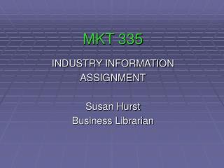 MKT 335