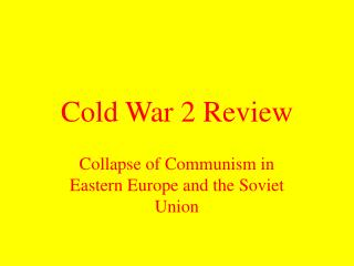 Cold War 2 Review
