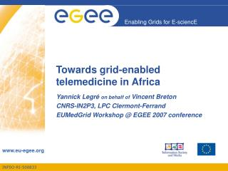 Towards grid-enabled telemedicine in Africa