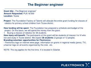 The  Beginner engineer