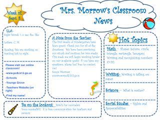 Mrs. Morrow's Classroom News
