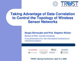 Taking Advantage of Data Correlation to Control the Topology of Wireless Sensor Networks
