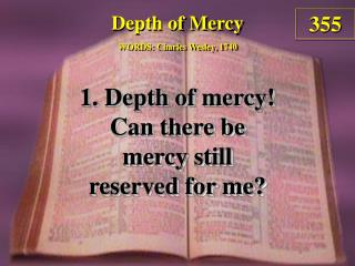 Depth of Mercy (Verse 1)