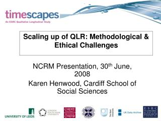 Scaling up of QLR: Methodological & Ethical Challenges