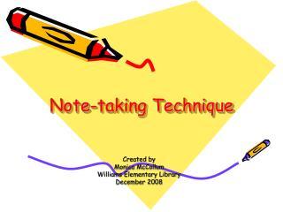 Note-taking Technique