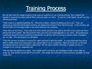 Training Process