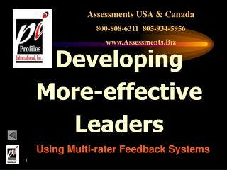 Developing More-effective Leaders