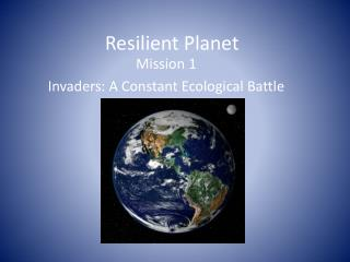 Resilient Planet