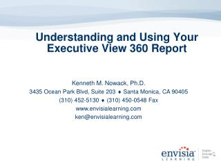 Understanding and Using Your Executive View 360 Report