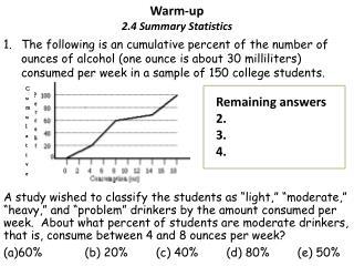 Warm-up 2.4 Summary Statistics