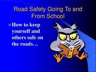 Road Safety Going To and From School