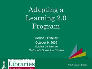 Adapting a Learning 2.0 Program