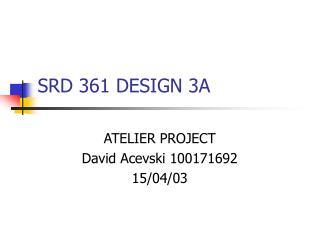 SRD 361 DESIGN 3A