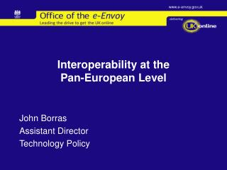 Interoperability at the  Pan-European Level