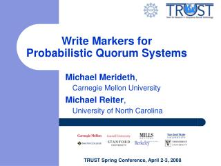 Write Markers for  Probabilistic Quorum Systems