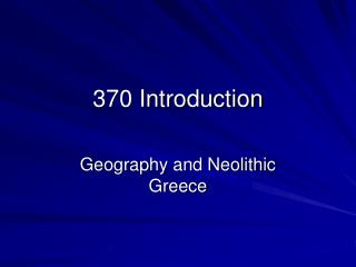 370 Introduction