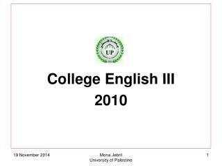 College English III 2010