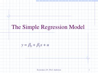 The Simple Regression Model