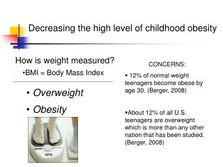 Decreasing the high level of childhood obesity