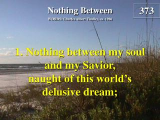 Nothing Between (Verse 1)