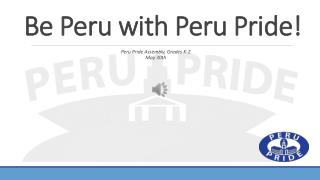 Be Peru with Peru Pride!