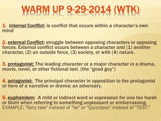 Warm Up 9-29-2014 (WtK)