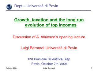 Dept – Università di Pavia ________________________________________