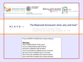 The Balanced Scorecard: what, why and how?