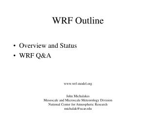 WRF Outline