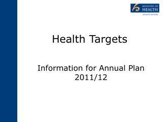 Health Targets