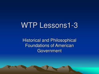 WTP Lessons1-3