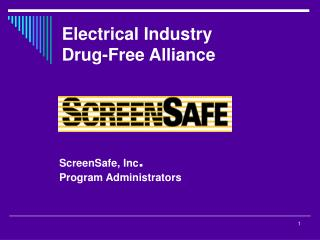 Electrical Industry  Drug-Free Alliance