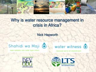 Why is water resource management in crisis in Africa?
