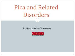 Pica and Related Disorders