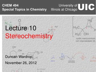Lecture 10 Stereochemistry