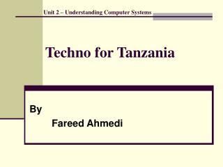 Techno for Tanzania