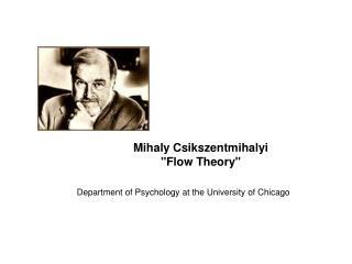 """Mihaly Csikszentmihalyi """"Flow Theory"""""""