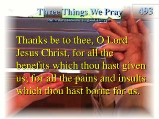 Three Things We Pray