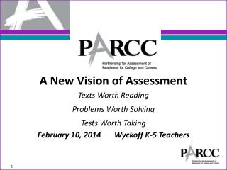 A New  V ision of Assessment Texts Worth  Reading Problems  Worth  Solving
