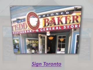 Sign Toronto