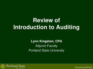 Review of  Introduction to Auditing