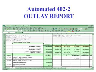 Automated 402-2 OUTLAY REPORT