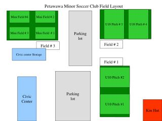 Petawawa Minor Soccer Club Field Layout