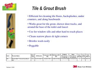 Tile & Grout Brush