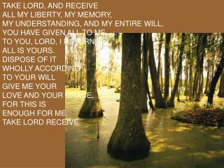 take lord and receive