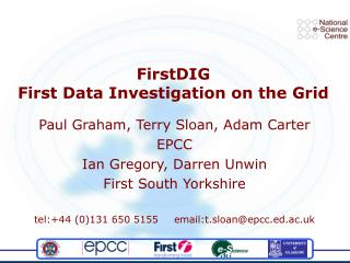 FirstDIG First Data Investigation on the Grid