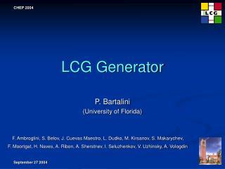 LCG Generator