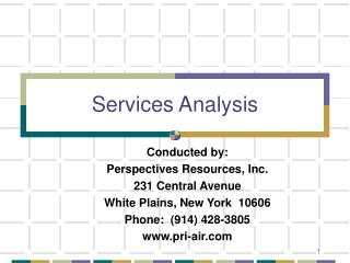 Transportation Demand Management Services Analysis Summary