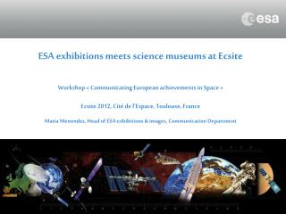 ESA exhibitions meets science museums at Ecsite